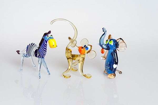 "Glasfiguren ""Lustiger Zoo"" groß"